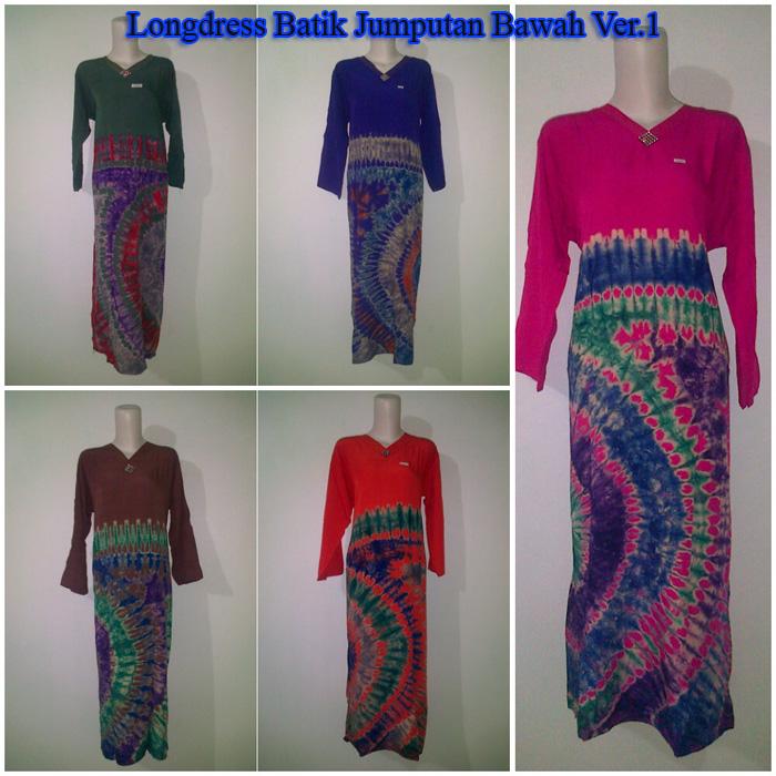Model Baju Modern Ku Longdress Batik Jumputan Bawah Ver 1 Model