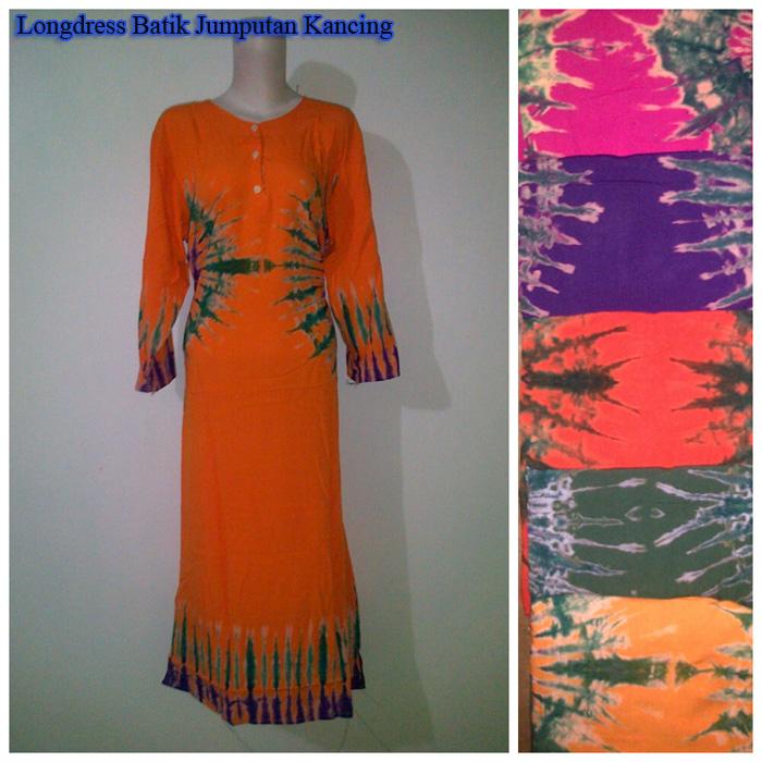 Model Baju Modern Ku Longdress Batik Jumputan Kancing Model Baju